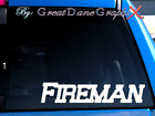 Fire Fighter Fireman Text #1 -Vinyl Decal Sticker -Color Choice -HIGH QUALITY