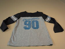 Childrens Place Boys T-Shirt Champions Gym 100% Cotton 4T Grays Solid