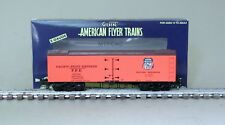 American Flyer 6-44138 Pacific Fruit Express Wood Side Refrigerator Car 91056