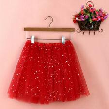 Women High Quality Glitter Pleated Gauze Short Skirt Adult Tutu Dancing Skirt CA