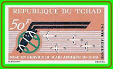 CHAD 1963 PLANE/AIR AFRIQUE imperforated SC#C10 MNH CV$12 AVIATION, JOINT ISSUE
