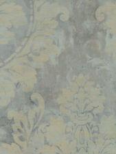NEW DESIGNER WALLPAPERS Wallpaper Roll FR60202  Light Silvery Blue Floral ~