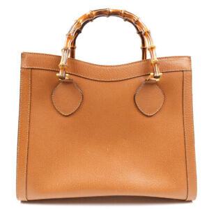 GUCCI Handbag leather brown