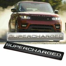 For Range Rover Land Rover Sport SUPERCHARGED Trunk Badge Emblem Black or silver