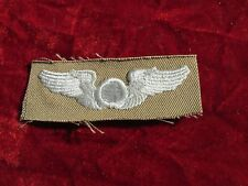 US ARMY Observer  Pilot wing Khaki Cloth Insignia Embroidered on twill unused