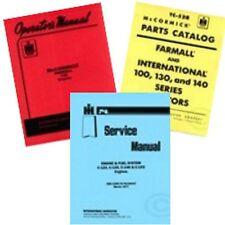 International Farmall 130 Tractor Service Shop, Operators Parts Manual 3 Manuals