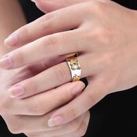 Mens Silver Gold Black Wedding Celtic Dragon Ring Man classic