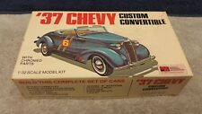 Vintage Palmer '37 Chevy Custom Convertible 1/32 Scale Plastic Model Kit Boxed