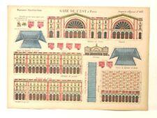 Imagerie D'Epinal No 887 Gare de L'est Paris, Moyennes Constructions paper model
