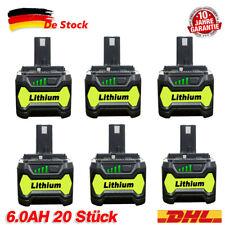 2X 18V 6.0Ah Für Ryobi One+ Plus P108 Lithium Batterie RB18L50 P104 P780 RB18L40
