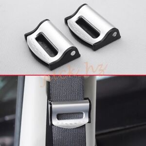 Silver Car Seat Belt Buckle Stopper Catcher Safety Driving Comfort Accessories