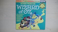 Songs from The WIZARD OF OZ Wonderland Records Double Play 45rpm 70s