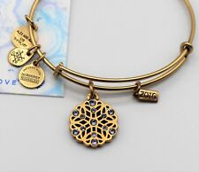 Alex and Ani Snowflake Bracelet 2016 Holiday Special Edition Gold-Tone Bangle