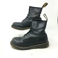 Dr. Martens Smooth Airwair Boots Bouncing Sole Lace Up Leather Black Mens 8