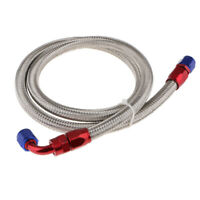 """AN6-6AN AN-6 5//16/"""" 8MM Stainless Steel Braided Oil Fuel Hose Line Pipe 5 Metre"""