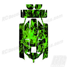 Losi 8IGHT 2.0 RC Graphic Kit Decal Wrap 1/8 Buggy Body Green Flames