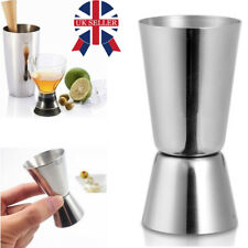 STAINLESS STEEL DRINKS MEASURE 25/50ML JIGGER DUAL SPIRIT COCKTAIL PUB CLUB NEW