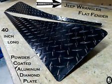 "Jeep Wrangler TJ Powder Coated Aluminum Diamond Plate Fender Cover set 40"" long"