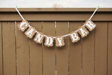 candy bar Kraft Cardboard Bunting Banner Garland