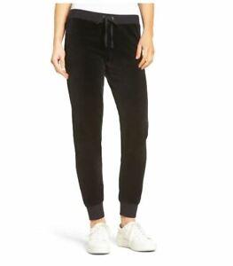 Juicy Couture Zuma Velour Track Pants Black M