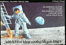 MARSHALL ILS 1989 SC 238a + 6/25¢ FIRST MEN ON THE MOON BOOKLET MNH OG VF