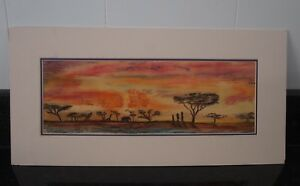 Pastel Drawing African Sunset by Clark Gibson - Art Work