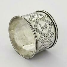 VICTORIAN STERLING SILVER NAPKIN RING Sheffield 1886 Martin, Hall & Co