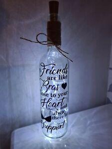 Stunning Friends Light Up Wine Bottle