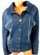 dollhouse Womens Denim Jacket L Dark Wash