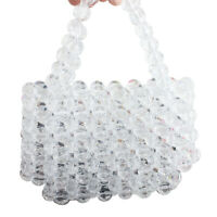 luxury pearl bag beaded crystal totes women party vintage handbag clutches purse
