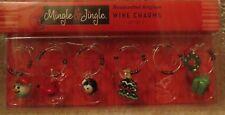 Wine Charms Set of 6 - Snowman, Cardinal, Penguin, Tree, Wreath & Present