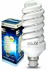 35w Spiral Light Bulb 175w Equivalent Very Bright Bayonet Cap B22