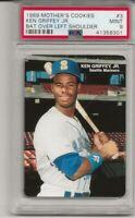 1989 Mother's Cookies #3 Ken Griffey Jr., PSA 9 MINT Rookie HOF, BAT OVER SHLDER