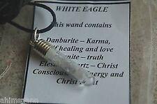 MASTER WHITE EAGLE CRYSTAL CHAKRA HEALING PENDANT