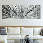 Large Silver Metal Wall Art BEAUTIFUL Design by Artist Jon Allen - Metal Decor