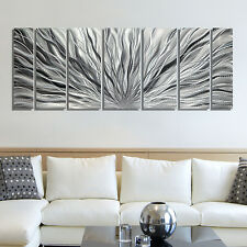Statements2000 Modern Metal Wall Art Abstract Decor Silver Painting by Jon Decor