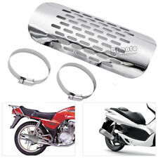 Motorbike Exhaust Muffler Pipe Heat Shield Cover Guard For Harley Chopper Chrome