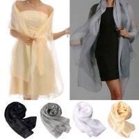 Mode Féminine Assez Longue Douce écharpe En Mousseline De Soie Wrap Châle