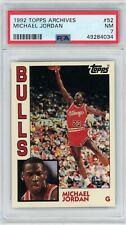 1992-93 Topps Archives Bulls Michael Jordan #52 PSA 7 Near Mint NBA MJ AIR RC