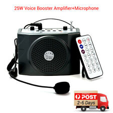NEW 25W Portable Waistband Voice Booster PA Amplifier Speaker FM MP3 Music Audio