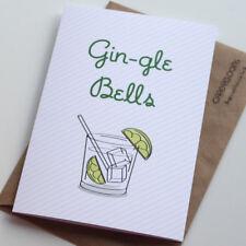 Funny Christmas Card, Gin-gle Bells, Gin, Xmas, Seasons Greeting, Humour Card