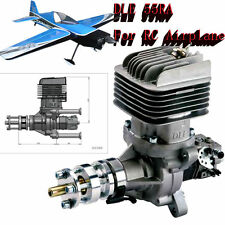 Promotion DLE55RA Engine Rear Exhaust Gasoline w/Ignition&Muffler plane model FM