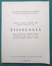 LIBRO Ita Appunti TISIOLOGIA Prof.Antonio Blasi Anni Accademici 1958-59 1959-60