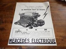 1930.Publicité pour machine à écrire électrique Mercédès.