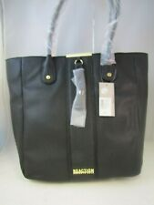 Kenneth Cole Reaction Black Saffiano Faux-leather Satchel Tote Handbag