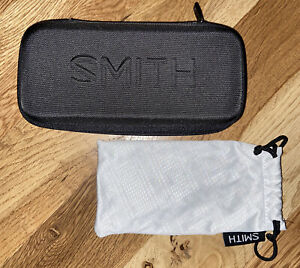 SMITH Protective HARD Zippered BLACK Case GLASSES Sunglasses POUCH Set NEW!