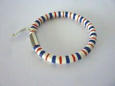 Brighton Woodstock Parade Stripe Bracelet- red,white & blue -Size ML -magnetic
