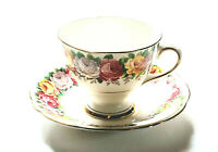 Vintage Gladstone Rosemary Bone China Cup Saucer Set Made In England Floral