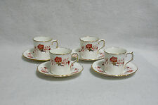 Royal Crown Derby Bali A1100 (Ely/Chelsea) - Demitasse Cup and Saucer Sets (4)