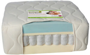"PocketSprung Pocket Spring and CoolBlue memory foam mattress 10"" Depth"